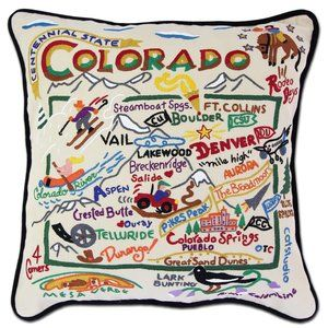 "[Catstudio] Colorado Hand-Embroidered 20"" Pillow"